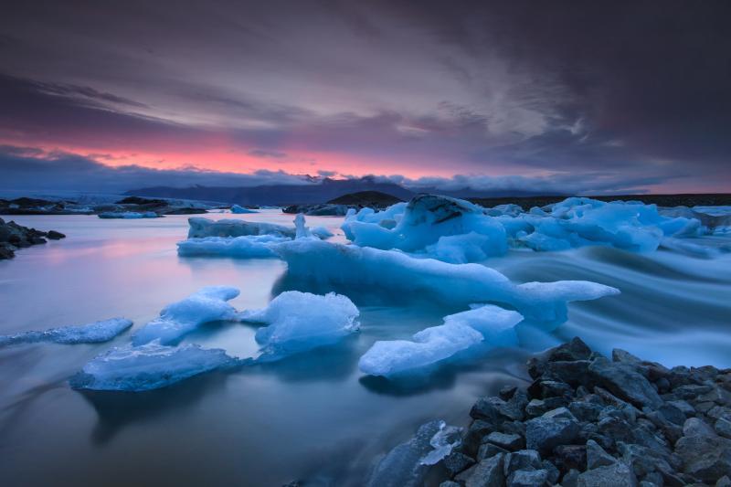 Jökulsárlón isbre på Island