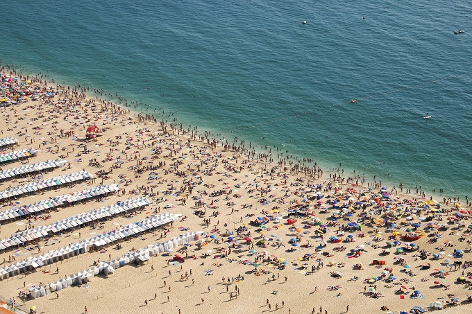 Nazare strand i Portugal
