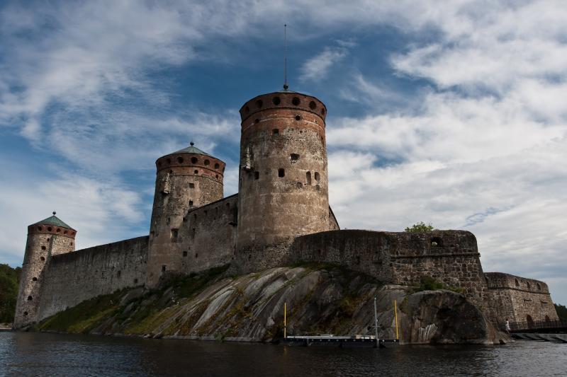 St. Olafs slott i Savonlinna i Finland