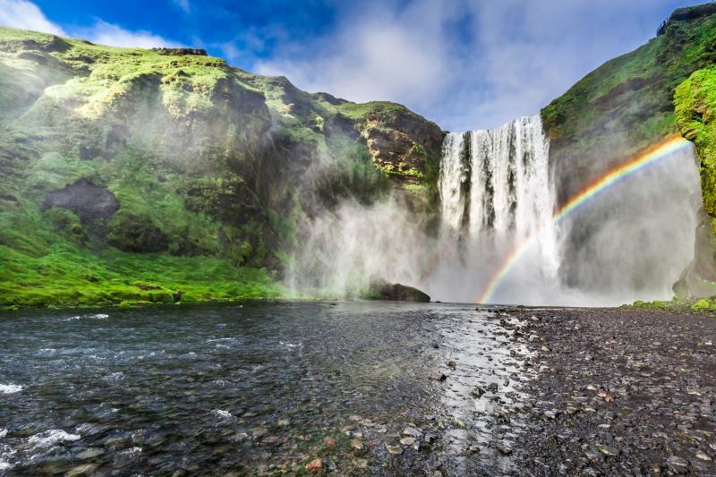 Skógafoss på Island